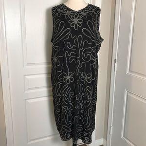 MAGGIE BARNES BLACK & WHITE PLUS SIZE DRESS